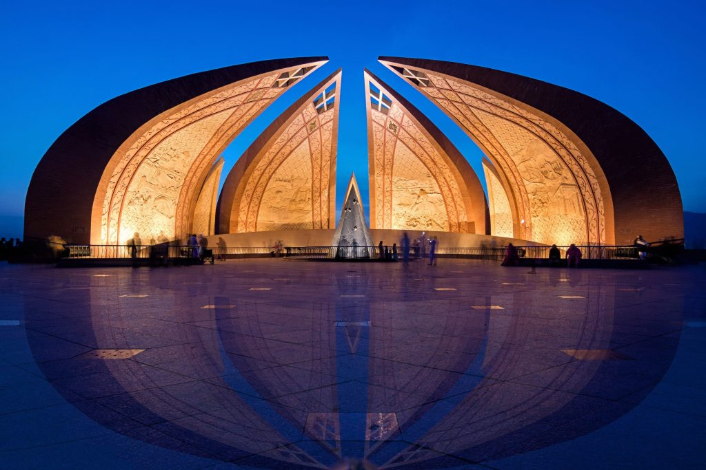 Pakistan Monument in Islamabad — Photo by Muhammad Ashar