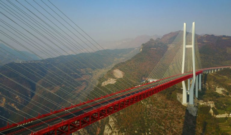 Highest bridge in the world is now open to traffic in China