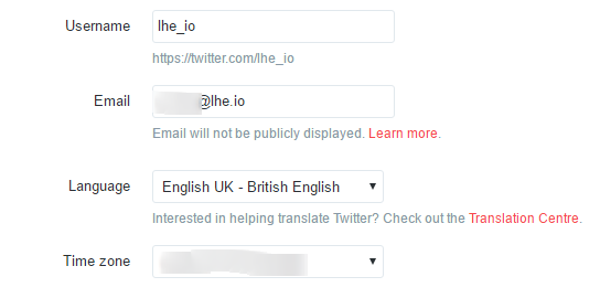 twitter confirmed email
